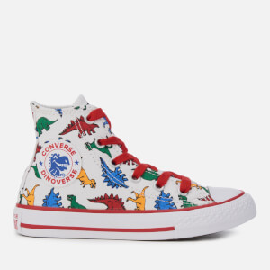 Converse Kids' Chuck Taylor All Star Hi-Top Trainers - White/Enamel Red/Totally Blue