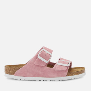Birkenstock Women's Arizona Suede Slim Fit Double Strap Sandals - Rose