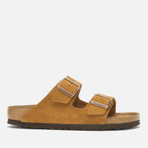 Birkenstock Women's Arizona Suede Slim Fit Double Strap Sandals - Mink