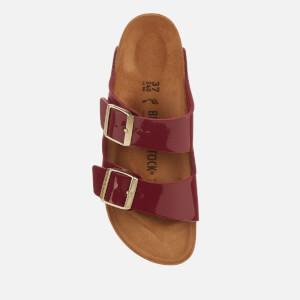 Birkenstock Women's Arizona Patent Slim Fit Double Strap Sandals - Bordeaux: Image 3