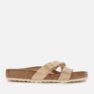 Birkenstock Women's Yao Balance Patent Slim Fit Sandals - Sand