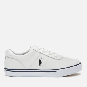 Polo Ralph Lauren Kids' Hanford Leather Low Top Trainers - White/Navy PP