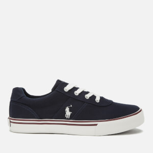 Polo Ralph Lauren Kids' Hanford Canvas Low Top Trainers - Navy/Paperwhite PP