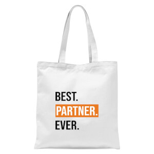 Best Partner Ever Tote Bag - White