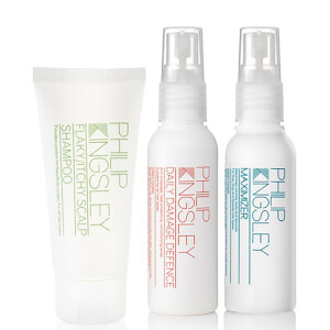 Philip Kingsley Flaky/Itchy Scalp Shampoo, Daily Damage Defence and Maximizer 60ml (Free Gift)