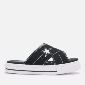 Converse Women's One Star Slip Sandal - Black/Egret/White