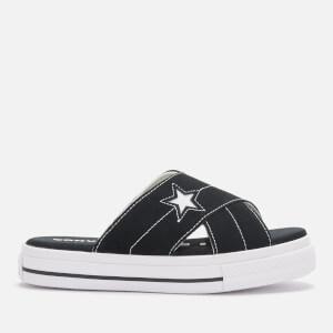 Converse Women's One Star Slip Sandal - Black/Egret/White