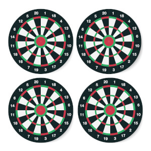Dartboard Coaster Set