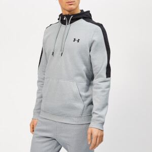 Under Armour Men's Microthread 1/2 Zip Fleece Hoodie - Steel Light Heather