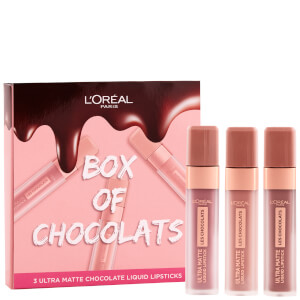 L'Oréal Paris Box of Chocolates Ultra-Matte Liquid Lip Gift Set (Worth £26.99)