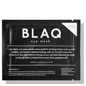 BLAQ Eye Mask + Hyaluronic Acid (Singles)