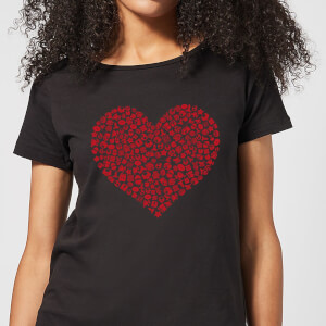 Super Mario Items Heart Women's T-Shirt - Black