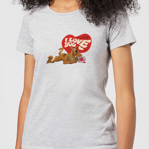 Scooby Doo It's No Mystery I Love You Women's T-Shirt - Grey