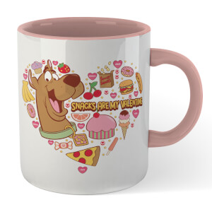 Scooby Doo Snacks Are My Valentine Mug - White/Pink