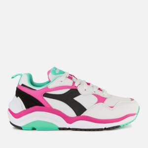 Diadora Women's Whizz Run Trainers - White/Fluo Fuchsia/Electric GR