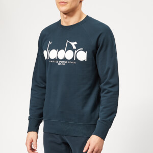 Diadora Men's 5 Palle Crew Neck Sweatshirt - Blue Denim