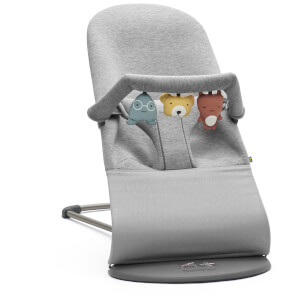 BABYBJ?RN Bouncer Bliss and Soft Friends Bouncer Toy - Light Grey
