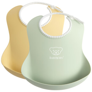 BABYBJÖRN Baby Bib - Powder Yellow and Green (2 Pack)