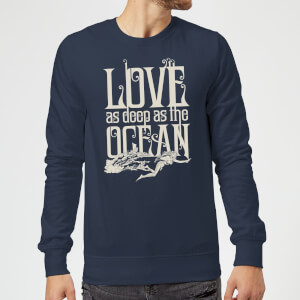 Aquaman Love As Deep As The Ocean Sweatshirt - Navy