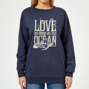 Aquaman Love As Deep As The Ocean Women's Sweatshirt - Navy