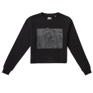 Nintendo Original Hero Princess Peach Women's Cropped Sweatshirt - Black