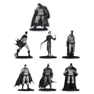 DC Collectibles Batman Black & White PVC Minifigure 7-Pack Box Set #3 10 cm