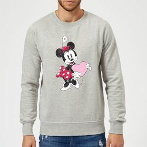 Disney Minnie Mouse Love Heart Sweatshirt - Grey