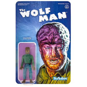 Figurine articulée Super7 Universal Monsters ReAction – L'Homme-Loup – 10 cm