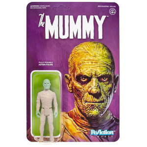 Figurine articulée Super7 Universal Monsters ReAction – La Momie – 10 cm