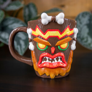 Crash Bandicoot Uka Uka Shaped Mug