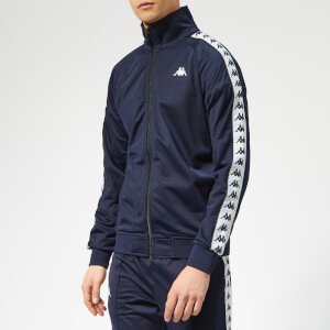 Kappa Men's Banda Anniston Track Jacket - Blue Marine/White/Black
