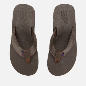 Polo Ralph Lauren Men's Sullivan Iii Tumbled Leather Sandals - Dark Brown
