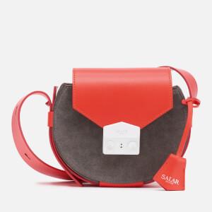 SALAR Women's Annie Multi Cross Body Bag - Dark Grey/Coral