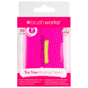 brushworks Tea Tree Blotting Papers (100 Sheets)