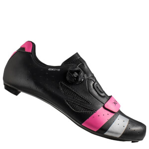 Lake CX218 Carbon Wide Fit Road Shoes - Black/Pink/Silver