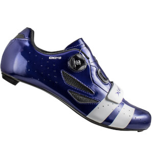 Lake CX218 Carbon Road Shoes - Navy Blue/White