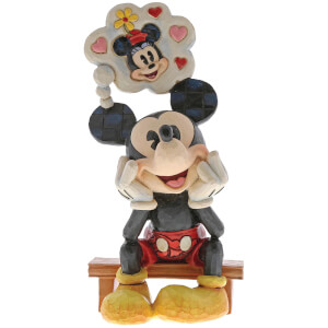 Disney Traditions Thinking of You (Mickey Mouse with Thought Figurine) 15.5cm