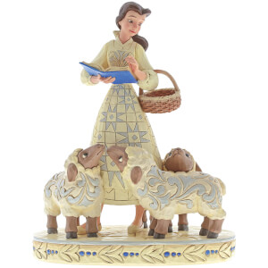 Disney Traditions Figurine Bookish Beauty (Belle avec des moutons) - 21 cm