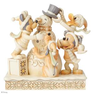 Disney Traditions Frosty Friendship (White Woodland Mickey & Friends) 15.0cm