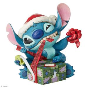 Disney Traditions Bad Wrap (Stitch with Santa Hat Figurine) 13.0cm