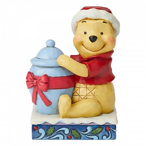 Holiday Hunny, Figurine Winnie l'ourson de Noël – Disney Traditions