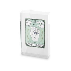 Barlena The Feminist Glass Block - 80mm x 60mm