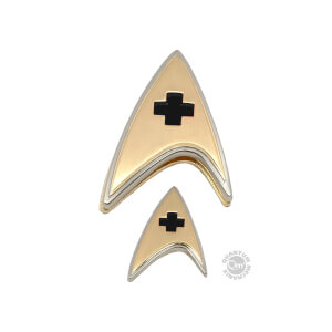 Quantum Mechanix Star Trek: Discovery Enterprise Medical Badge and Pin Set