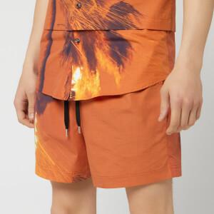 Matthew Miller Men's Kohner Shorts - Burning Print