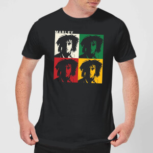 Bob Marley Faces Men's T-Shirt - Black