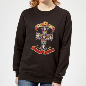Guns N Roses Appetite For Destruction Women's Sweatshirt - Black