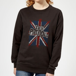 Sex Pistols Union Jack Women's Sweatshirt - Black