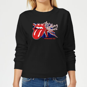 Rolling Stones Lick The Flag Women's Sweatshirt - Black