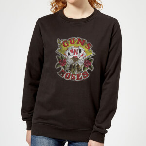 Guns N Roses Cards Women's Sweatshirt - Black