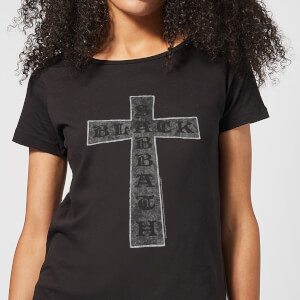 Black Sabbath Cross Damen T-Shirt - Schwarz